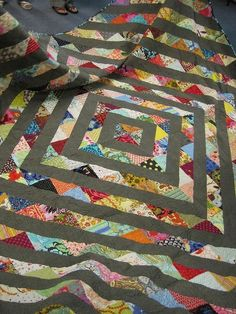 half square triangle quilt by GarJo12881