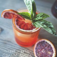 Check this out: CITRUS + BASIL APEROL SPRITZ. https://re.dwnld.me/2NHRW-citrus-basil-aperol-spritz