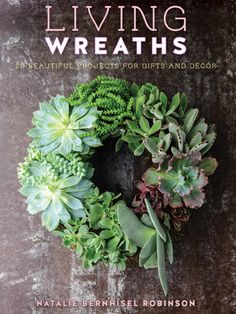 Create a living wreath with your favorite flowers, succulents, or vegetables.
