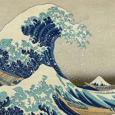 Vault W Artwork 'The Great Wave' by Katsushika Hokusai Framed Painting Print in Red and Blue Japanese Waves, Japanese Prints, Kit Pintura, Mont Fuji, Art Asiatique, Great Wave Off Kanagawa, Katsushika Hokusai, Art Japonais, Wave Art