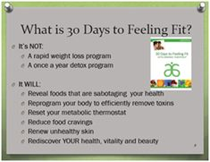 What is 30 Days to Feeling Fit?