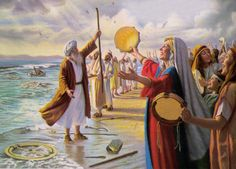 The Song of Moses, Victory at the Red Sea Images Bible, Bible Pictures, Exodus Bible, Moses Exodus, Crossing The Red Sea, Man Of War, Lord Is My Strength, Biblical Art, Praise Songs