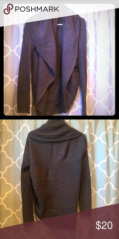 Charcoal grey cocoon cowl neck cardigan Warm and great layering piece! Cocoon and cowl neck cardigan sweater. Perfect transitioning pice to layer over your favorite summer tops! Mossimo Supply Co Sweaters Cardigans