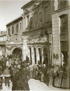palacio de la Audiencia en el Almudi ya con un solo 1 soportal, derrribado el otro