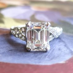 Hey, I found this really awesome Etsy listing at https://www.etsy.com/listing/237743376/art-deco-1930s-290ct-tw-emerald-cut