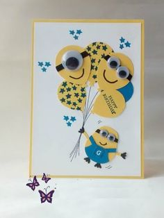 2 smiling face handmade cards for kids (1)