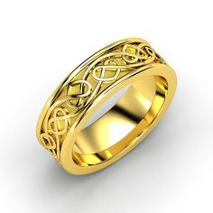 14K Yellow Gold Ring | Celtic Heart Band | Gemvara This is absolutely beautiful!