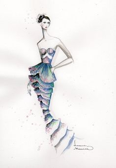 fashion illustration by Leanne Marshall #fashion #fashionillustration #beauty #fashionworld #fashionstyle #drawing