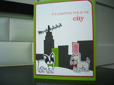 Christmas in the City Card Dog Lover Christmas by apaperaffaire