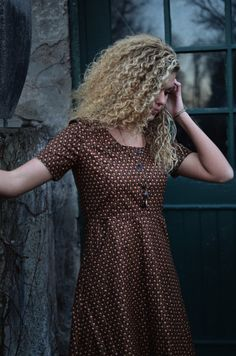 The Best Dress in the World // Vines on Brown by LetsBacktrack on Etsy https://www.etsy.com/listing/256525747/the-best-dress-in-the-world-vines-on