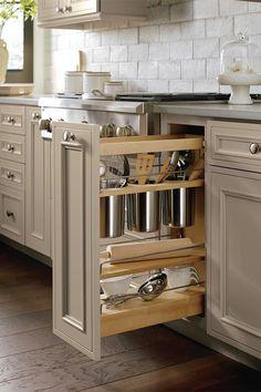 49 Brilliant DIY Kitchen Storage To Maximize Kitchen Space Diy Kitchen Storage Cabinet, Kitchen Cabinet Accessories, Kitchen Drawers, Storage Cabinets, Kitchen Cabinets, Kitchen Organization, Kitchen Sinks, Kitchen Utensils, Layout Design