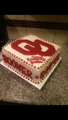 Ou Sooners Football Cake Cake Inspirations Pinterest