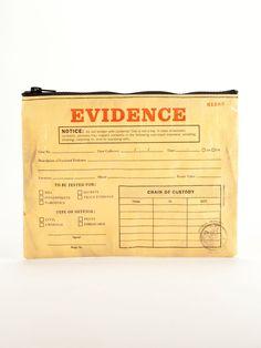 Evidence Zipper Cosmetics Money Pouch Bag