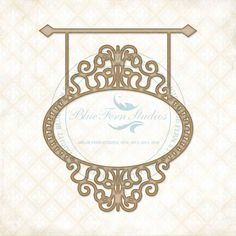 Reneabouquets New Item Listing~Blue Fern Studios Laser Cut Chipboard Hanging Oval Frame