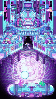 Check a big selection of his amazing pixel art psychedelic GIFs. Pixel Art, Vaporwave, Arte 8 Bits, Cube World, Animé Fan Art, Fan Art Anime, 8bit Art, Gif Animé, Visionary Art
