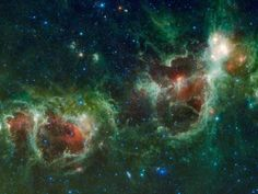 Photographic Print: Infrared Mosaic of the Heart And Soul Nebulae in the Constellation Cassiopeia by Stocktrek Images : 24x18in