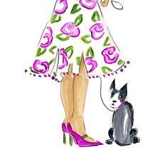 Be you because you're pretty....  Fashion Illustration by Beth Briggs  bbriggsillustration.etsy.com