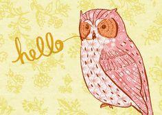 'Hello Owl' by Alli Coate