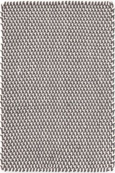Two-tone Rope Graphite/Ivory Indoor/Outdoor | Dash & Albert Rug Company -- dining room