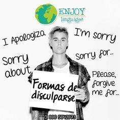 De acuerdo a las circunstancia existen diferentes maneras para disculparse en el idioma inglés ¡Conócelas! #EnjoyLanguages #Travel #Explore #EstudiaenelExtranjero