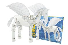 YOXO 4-in-1 eco-friendly building kits for kids. Love this pegasus! Plus it's compatible with LEGO, Mega Blox, even paper towel rolls and other stuff around the house so the combos are endless.