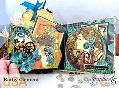 Mixed Media Steampunk Tag Album Tutorial Steampunk Debutante by Kathy Clement Product by Graphic 45 Photo 26