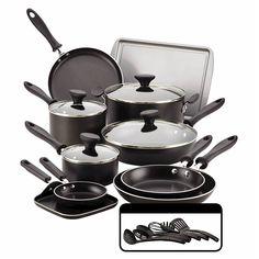 Farberware Reliance 20Pcs Cookset - Black