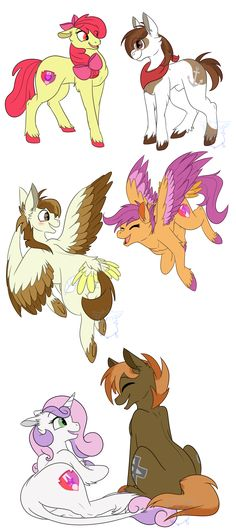 From Fillies and Colts to Stallions and Mares by RhinestoneArts on DeviantArt