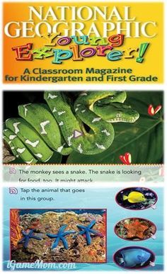 Free magazine on computer or tablet, 7 issues each year, with teachers' guide, available in English and Spanish