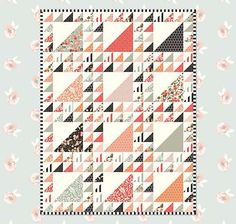 Free Quilt Pattern featuring Apricot & Persimmon fabric line by Carina Gardner for Riley Blake Designs—Subscribe to our newsletter at http://www.rileyblakedesigns.com/newsletter/