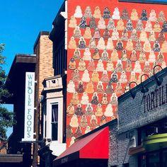 Street Buddha art ☸️ Buddha Art, Street, Buddha Artwork, Walkway