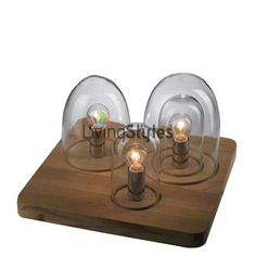 Trey Glass Dome Table Lamp