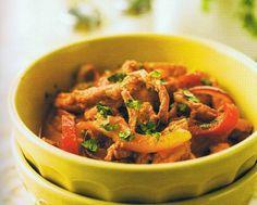 Receitas para a Dieta dos 31 Dias com a Bimby: Salteado de Porco com Pimentos