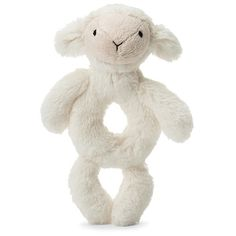 "Jellycat Bashful Lamb Grabber 7"" Jellycat, Baby Must Haves, Big Hugs, Little Ones, Lamb, Teddy Bear, Teaching, Fingers, Product Description"