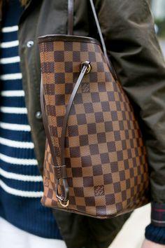Louis Vuitton tote, Barbour