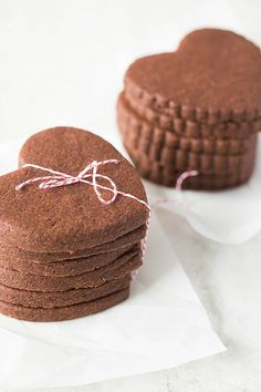 Chocolate Sugar Cookies! You can dress these up with fancy royal icing decoration for a special event, as they hold their shape exceptionally well, which makes them perfect for decorating.