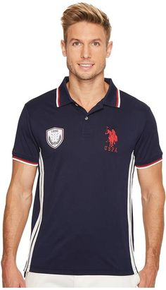 U.S. Polo Assn. Classic Fit Solid Short Sleeve Poly Pique Polo Shirt Men s  Short Sleeve Pullover 3aff1d307