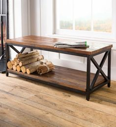 Allegheny Reclaimed Wood Table/Bench | PlowHearth Wood, Wood Storage Box, Coffee Table Wood, Versatile Furniture, Reclaimed Wood Table, Bench Table, Reclaimed Wood Coffee Table, Reclaimed Wood, Wood Table