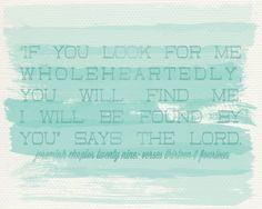 Jeremiah 29:13-14