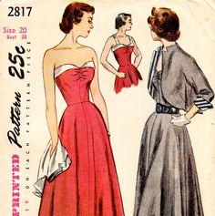 1950s dress sewing pattern and bolero
