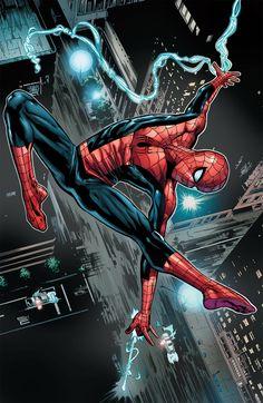 #Spiderman #Fan #Art. (Spider-Man) By: Neil Edwards. (THE * 5 * STÅR * ÅWARD * OF: * AW YEAH, IT'S MAJOR ÅWESOMENESS!!!™)[THANK Ü 4 PINNING!!<·><]<©>ÅÅÅ+