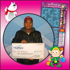 Ruel Padrique of #Ottumwa purchased his winning ticket at his local Jefferson St. BP.