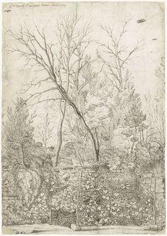 Gerard ter Borch (I) | Tuin van de Villa Madama, buiten Rome, Gerard ter Borch (I), 1609 |
