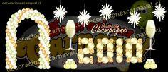 arco y numeros año nuevo