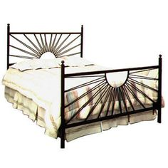 Grace Collection El Sol Wrought Iron Bed -- I like the sun look. Maybe just the spikes?