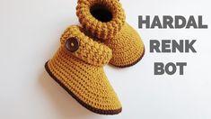 How To Crochet Cute Baby Booties - Crochet Patterns Crochet Baby Blanket Beginner, Crochet Baby Toys, Crochet For Boys, Crochet Clothes, Baby Knitting, Crochet Hats, Boy Crochet, Flower Crochet, Free Crochet