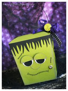 Frankenstein Take Out Treat Box