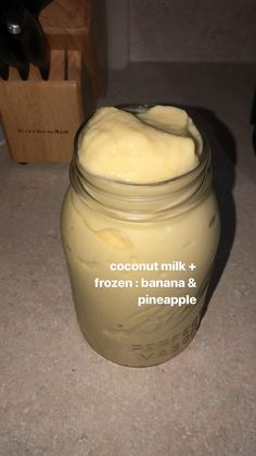 Easy and delicious! Add protein powder for a boost. Fruit Smoothie Recipes, Yummy Smoothies, Smoothie Drinks, Yummy Drinks, Healthy Drinks, Yummy Food, Healthy Food, Comida Diy, Milk Shakes
