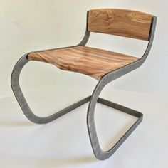 Tbt to the hand shaped cantilever Elm chair. #woodworking #metalworking #handmade #handshaped #furnituredesign #interiordesign #cantilever…