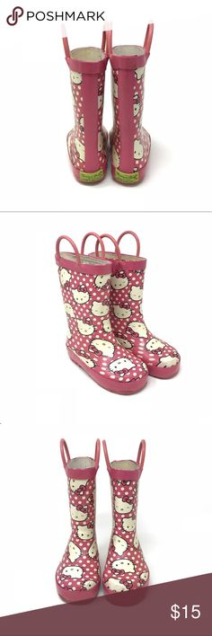 Hello kitty rain boots by Western Chief Kids •Western Chief Kids Hello Kitty pink rain boots. Great for wet, muddy, spring weather!  •Good/very good used condition  •Size 7/8  •I am a: Posh Ambassador, top 10% seller, top rated seller, Posh mentor & ship same day/next day!  ⭐️❤️FREE Matching hair accessory with purchase!❤️⭐️ •Smoke & pet free home •Browse my closet for dozen of amazing designers such as.. tucker + Tate, Tea Collection, Mini Boden, UGG, GAP, Juicy Couture, Lululemon & many…